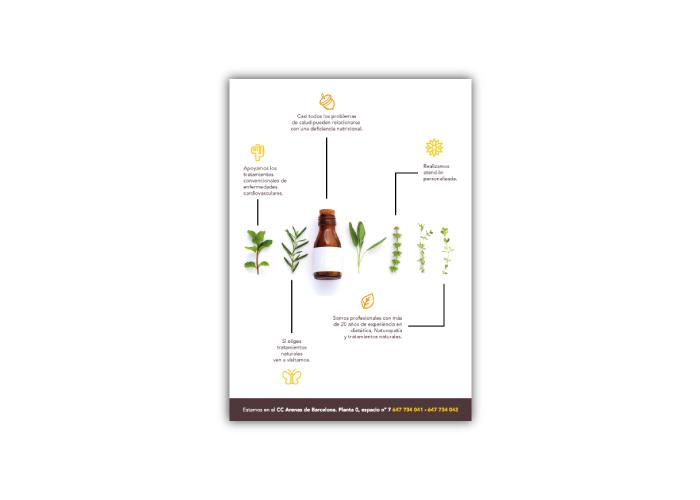 Diseño flyer vitaminas