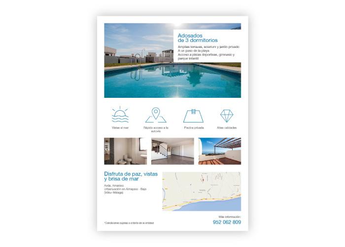 Diseño flyer promoción inmobiliaria