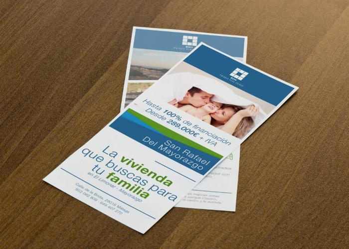 Diseño de flyers para promoción inmobiliaria