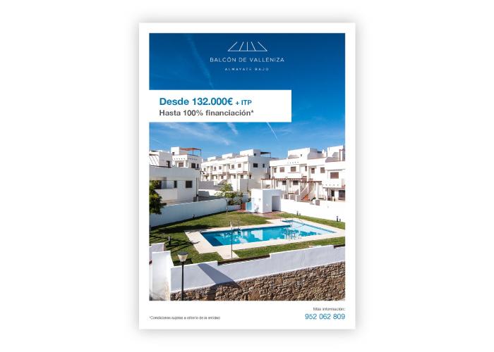 Diseño folleto inmobiliario en Malaga