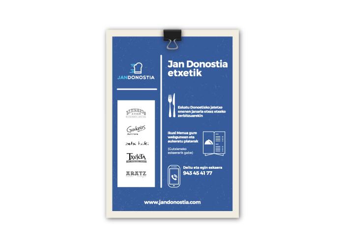 Diseño flyer restaurantes a domicilio