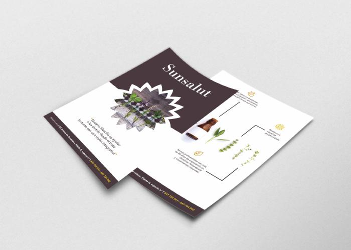 Diseño flyer complementos nutricionales