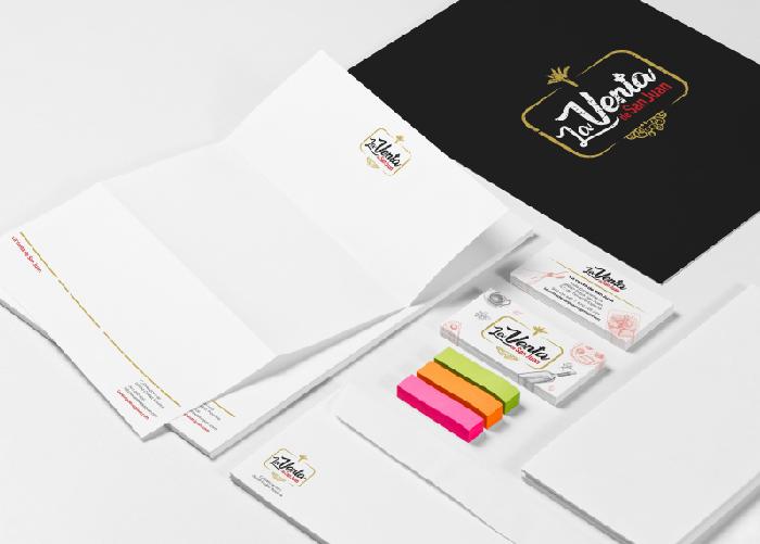 Diseño identidad corporativa tienda productos gourmet
