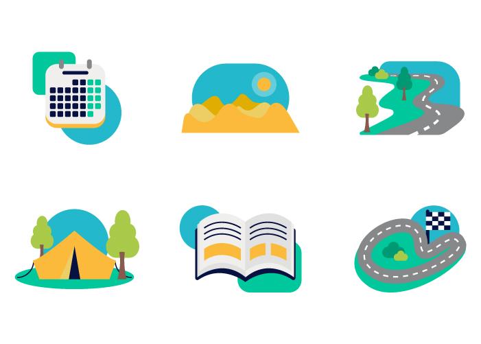 Diseño de ilustraciones para app de viajes