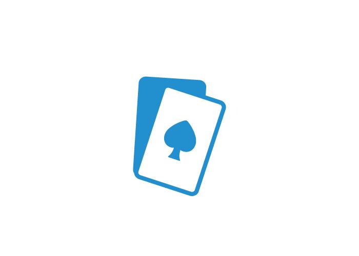 Diseño imagotipo para tienda de cartas de poker