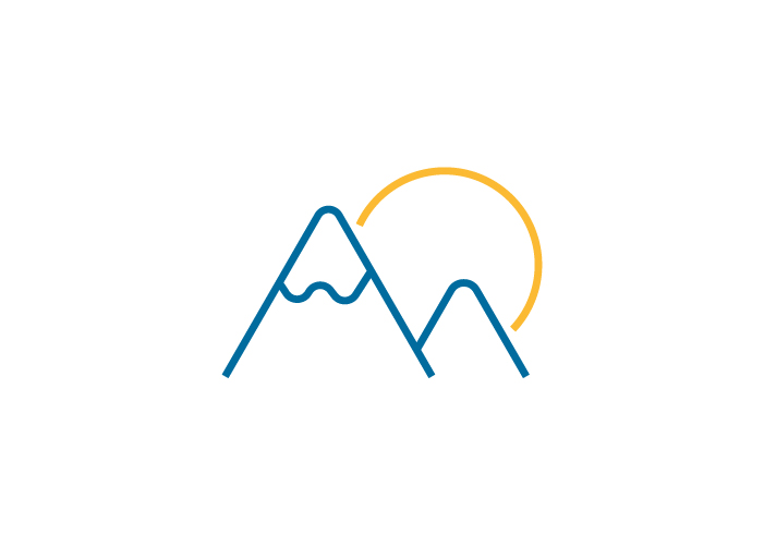 Diseño de logo para empresa que gestiona apartamentos de alquiler vacacional en zonas de montaña de Austria