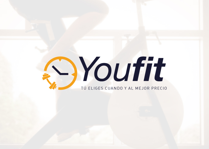 Diseño logotipo carné para gimnasios
