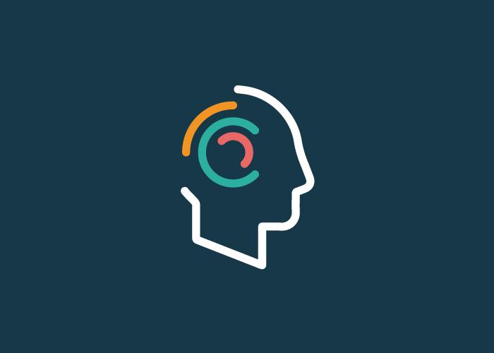 Diseño concepto cabeza para psicología