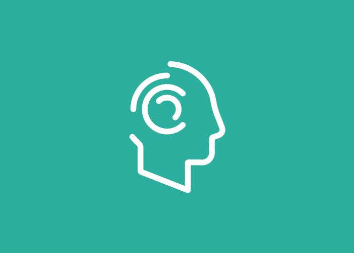 Diseño logo perfil cabeza