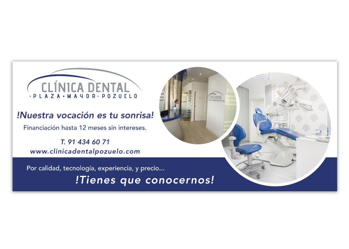 Diseño de lona para promoción de una clínica dental