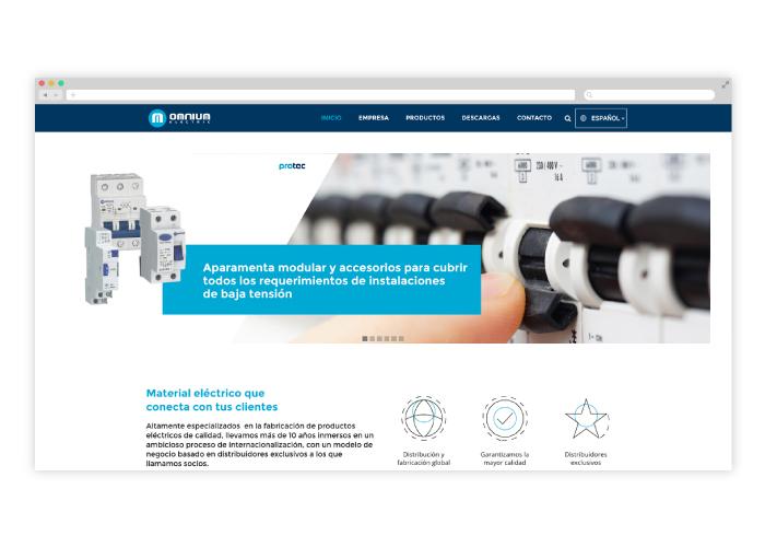 Diseño web empresa productos eléctricos