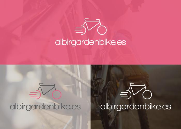 Diseño logo alquiler de bicicletas profesionales