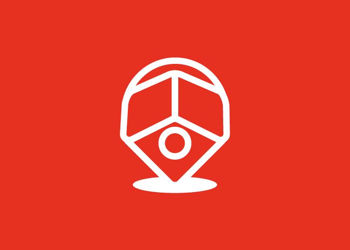 Diseño de logotipo para empresa dedicada al sector inmobiliario.