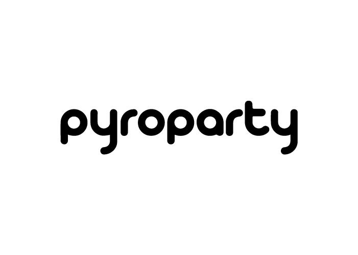 Diseño de logotipo para empresa de Málaga dedicada a la venta de productos de pirotecnia, artículos de fiesta y disfraces.