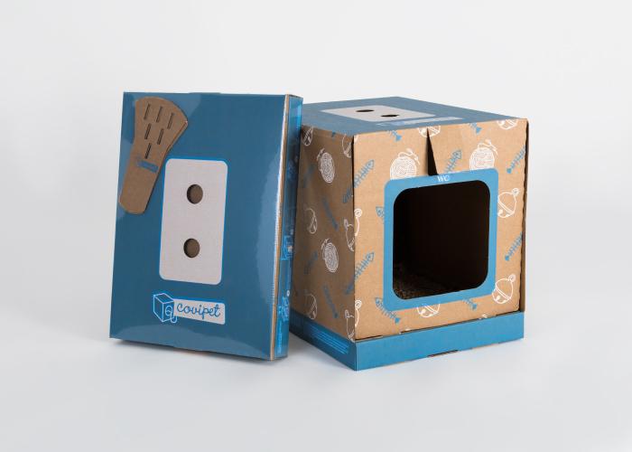 Diseño de packaging arenero para gatos