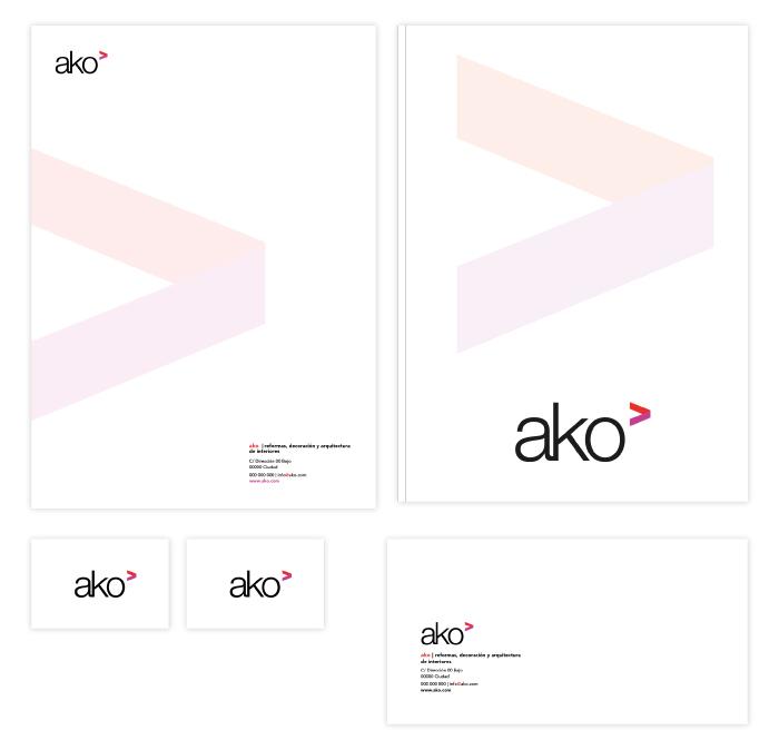 Diseño de papelería e identidad corporativa para una empresa dedicada a la decoración y el diseño de interiores