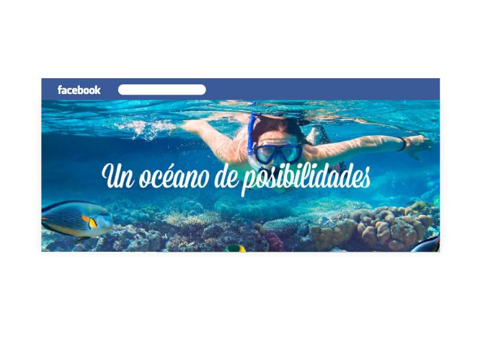 Diseño del perfil de facebook para agencia de viajes