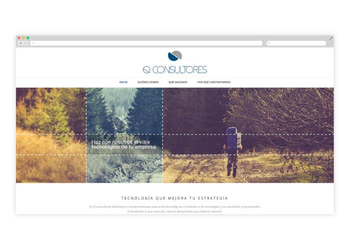 Diseño de web wordpress para empresa de consultoría tecnológica