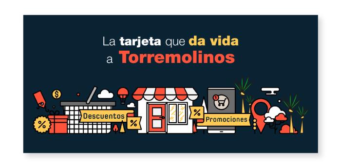 Diseño de elementos publicitarios para tarjeta de promociones en negocios locales de Torremolinos