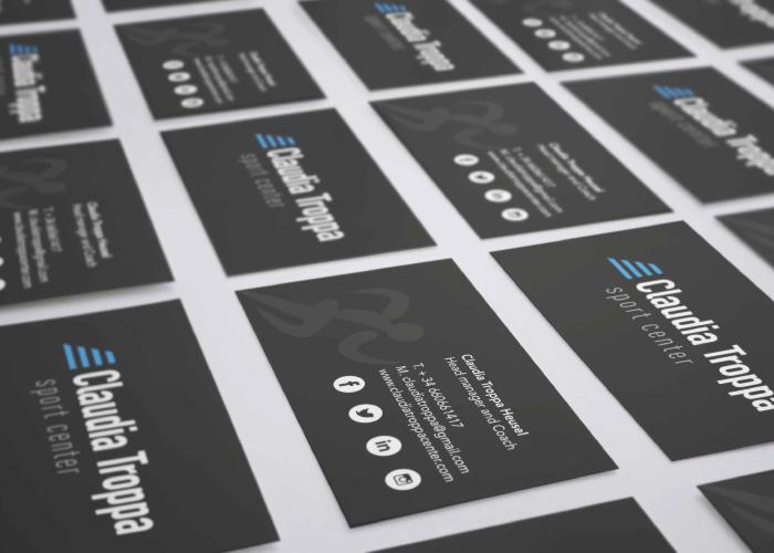 diseño tarjetas atletismo