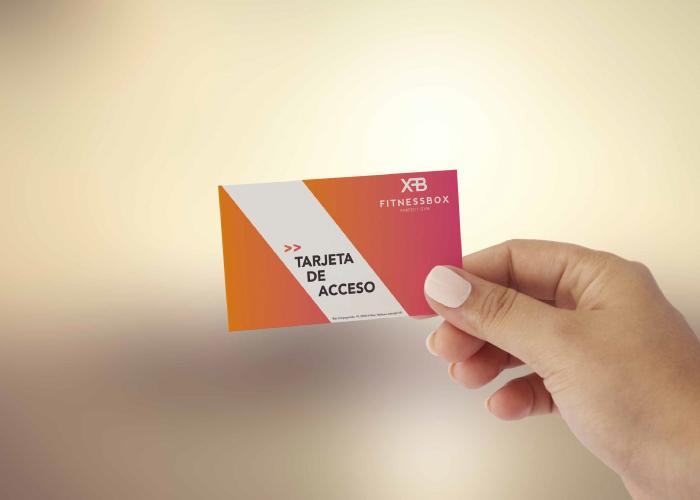 Diseño de tarjeta para gimnasio
