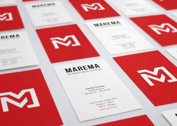 Diseño de tarjetas para empresa de reformas, mantenimiento y pinturas