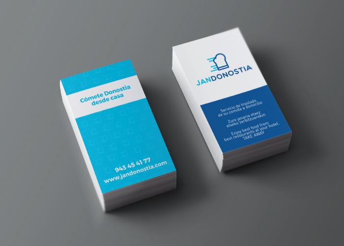 Diseño de tarjetas para una empresa de comida a domicilio