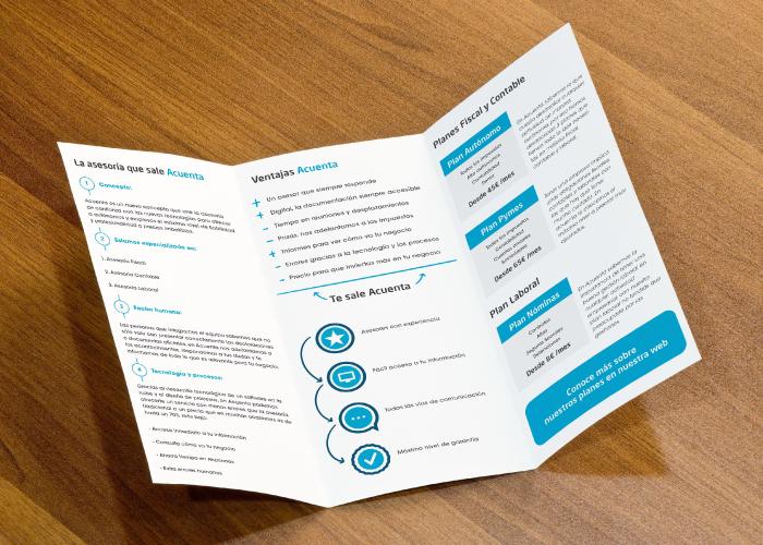 Diseño de trítptico informativo para asesoría online