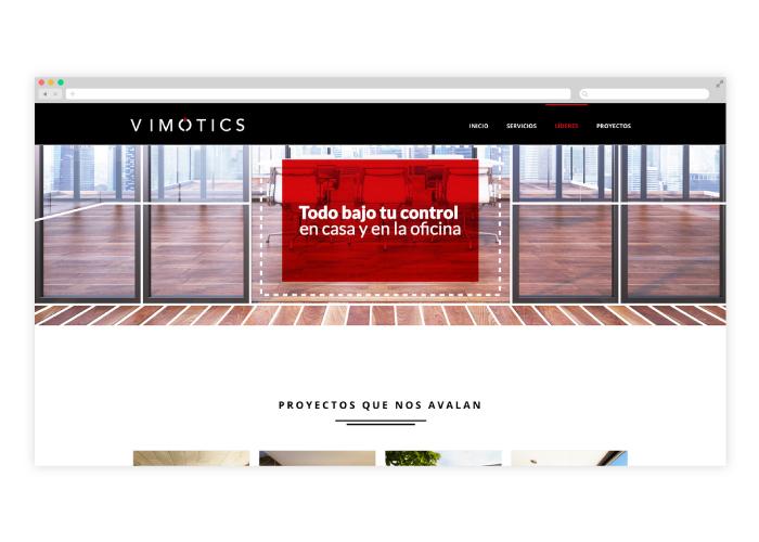 Diseño web empresa de domótica