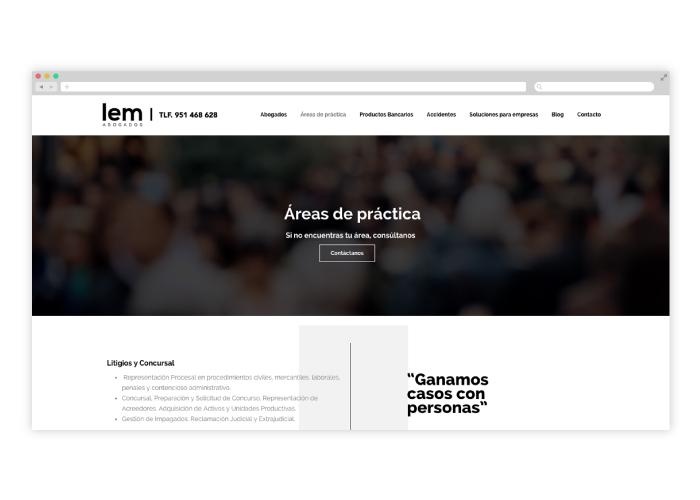 Diseño web despacho de abogados
