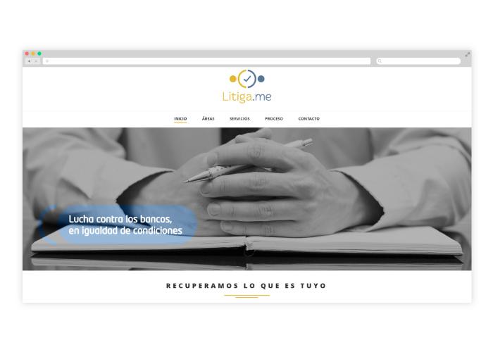 Diseño web abogados litigios con aerolíneas