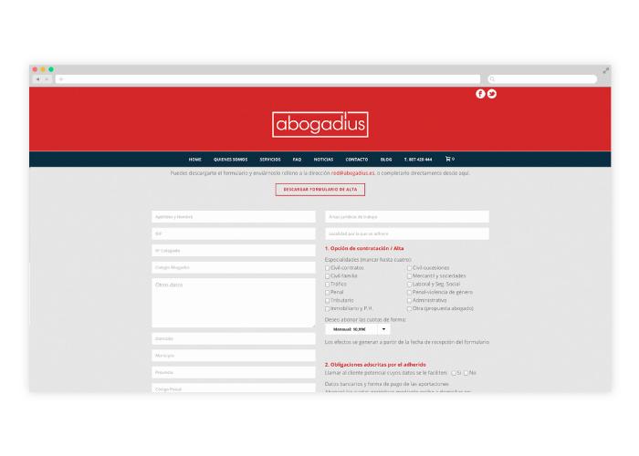 Diseño de página web para un despacho de abogados