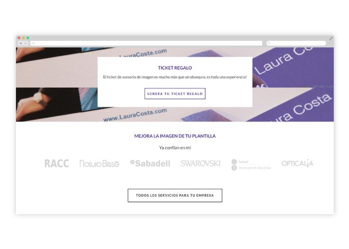 Desarrollo web Personal shopper Barcelona