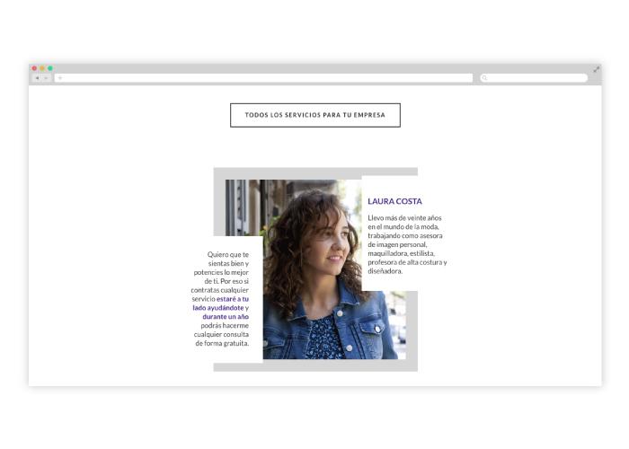 Diseño web para Laura Costas