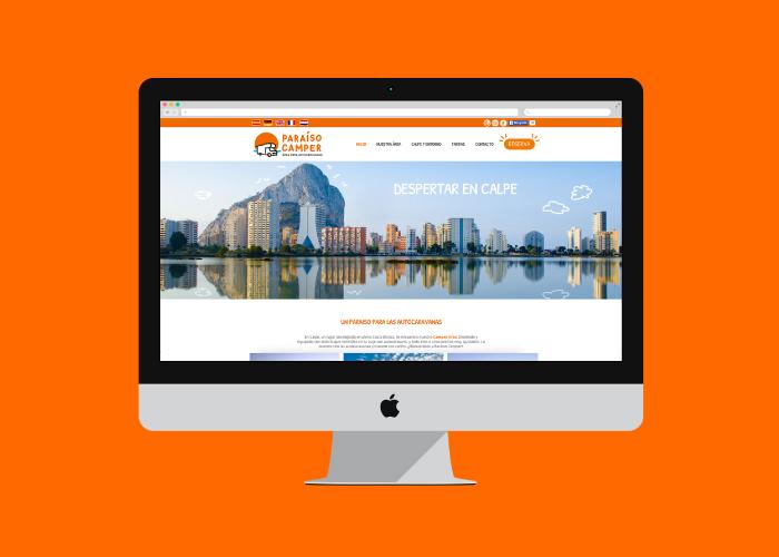 Diseño web para un camping de autocaravanas
