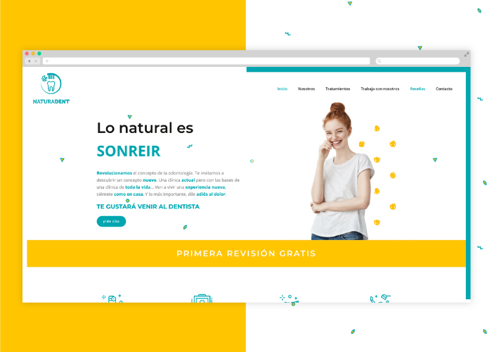 Diseño web original clínica dental