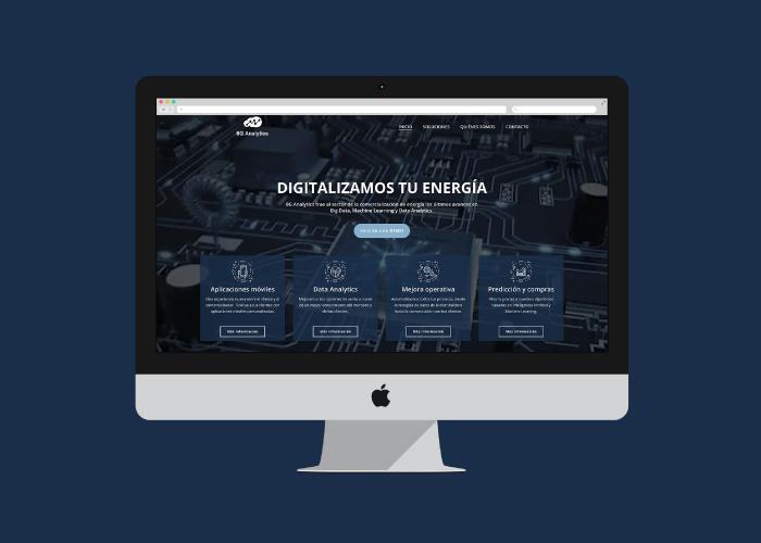 Diseño web para una empresa de software de energía