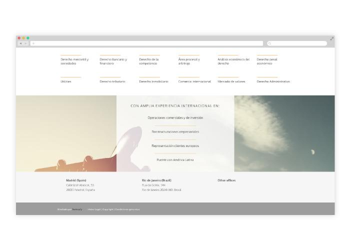 Diseño Web para despachos de abogados internacionales