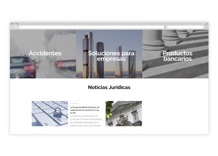 Dise o web despacho abogados en m laga factoryfy for Diseno de despachos