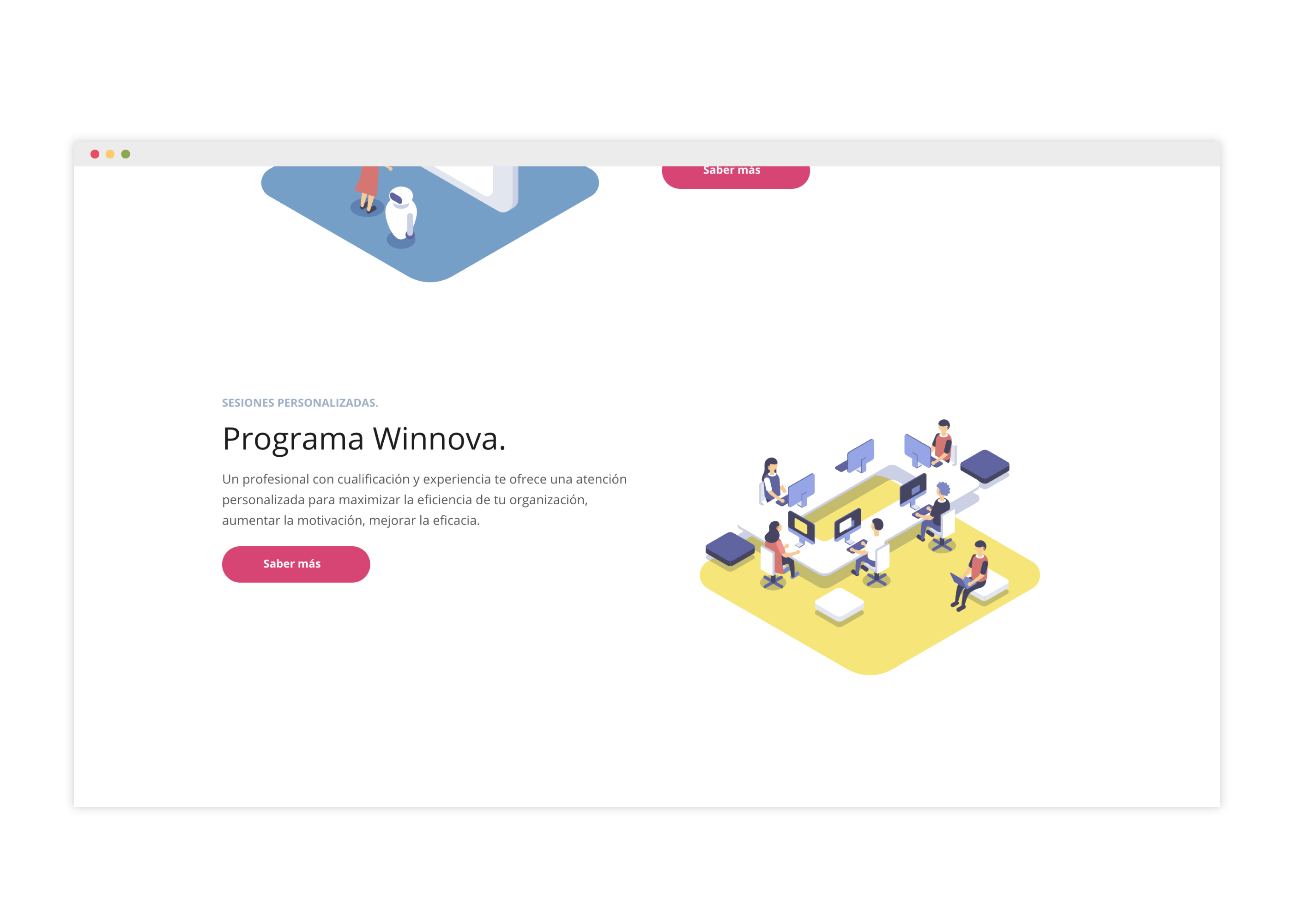Diseño de web para empresa de servicios de consultoría tecnológica