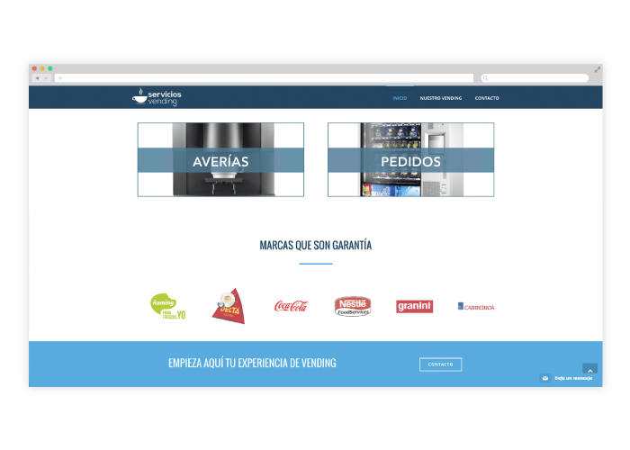 Dise o web para una empresa distribuidora de vending - Empresas de diseno ...