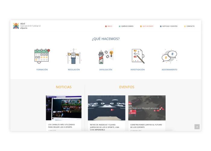 Diseño de página web para la primera asociación empresarial de eSports en España