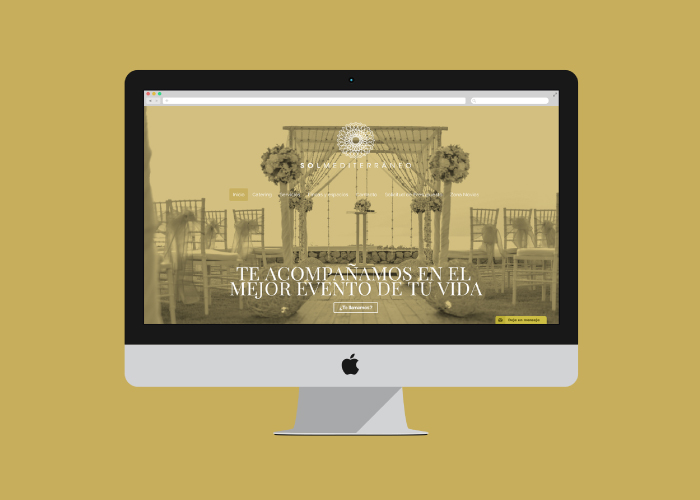 Diseño web organización de eventos Málaga