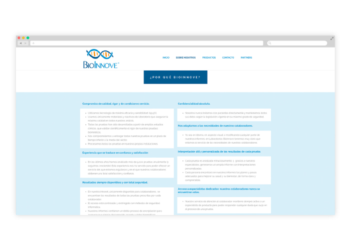 Diseño de web para un laboratorio biotecnológico que investiga la genética