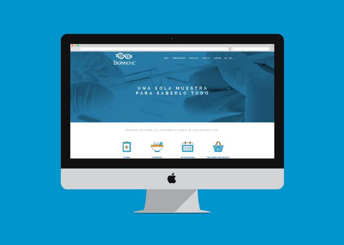 Diseño web para un laboratorio biotecnológico