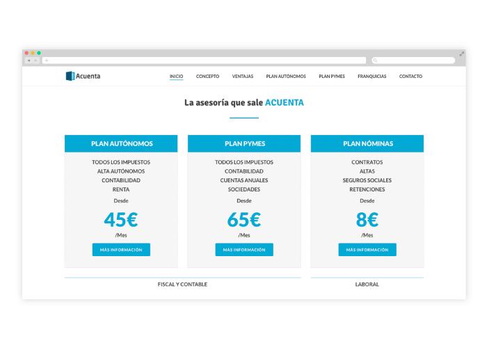 Diseño web para una asesoría online
