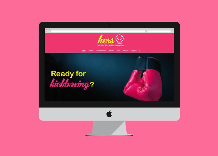 Diseño web para gimnasio de kickboxing para mujeres