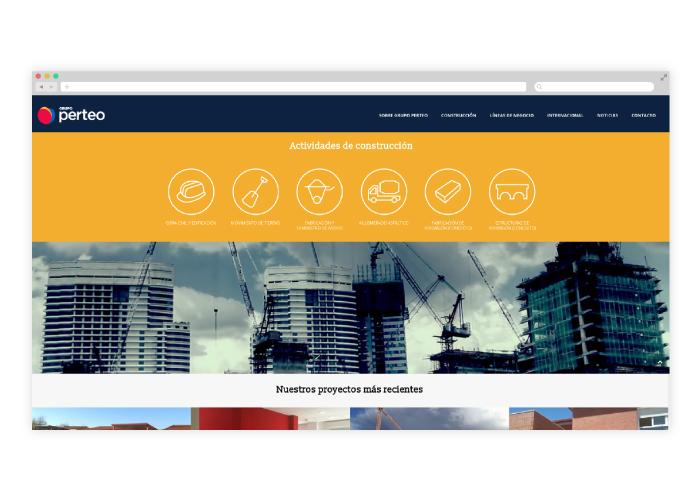 Dise o web responsive empresa construcci n madrid for Empresas construccion