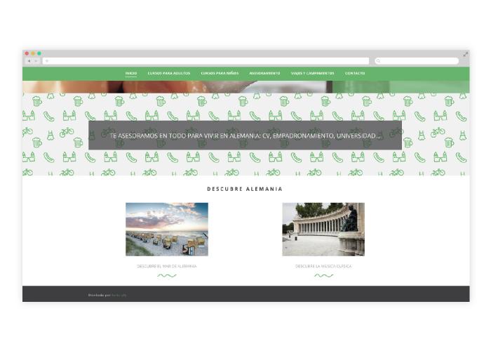 Diseño Web para cursos de Alemán