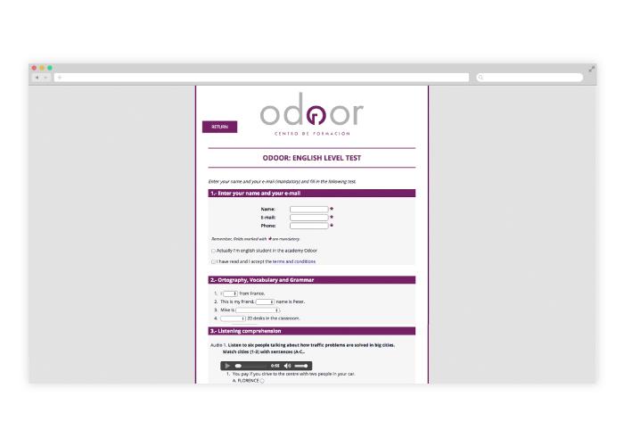 Diseño web personalizada para una academia de idiomas en Málaga